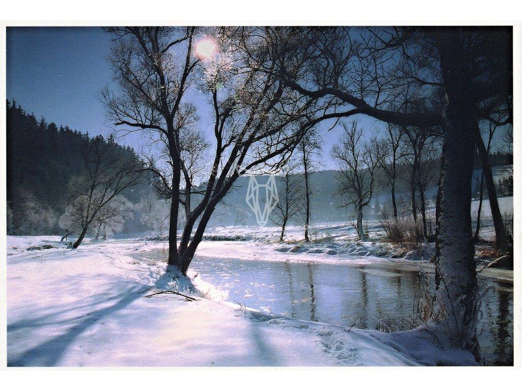 4058 2 pohlednice ceska zimni krajina