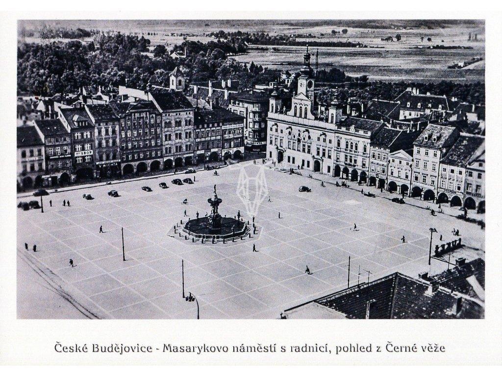 4547 2 pohlednice ceske budejovice masarykovo namesti