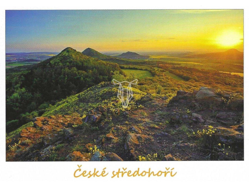 15845 3 pohlednice ceske stredohori