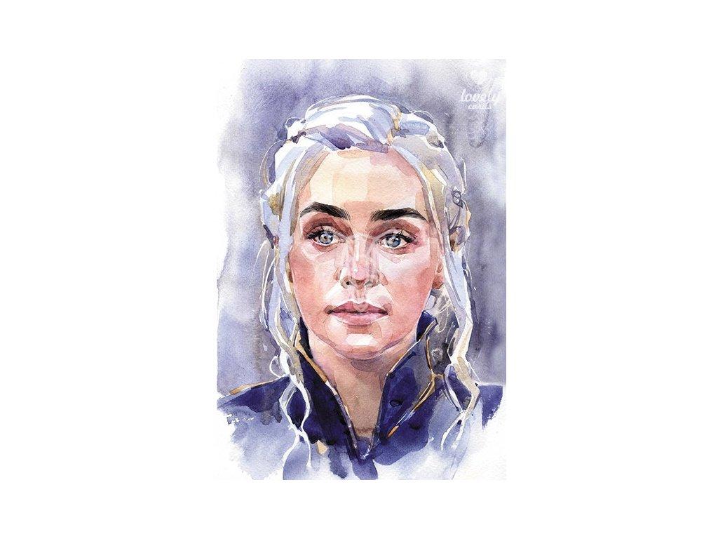 13736 2 pohlednice daenerys targaryen