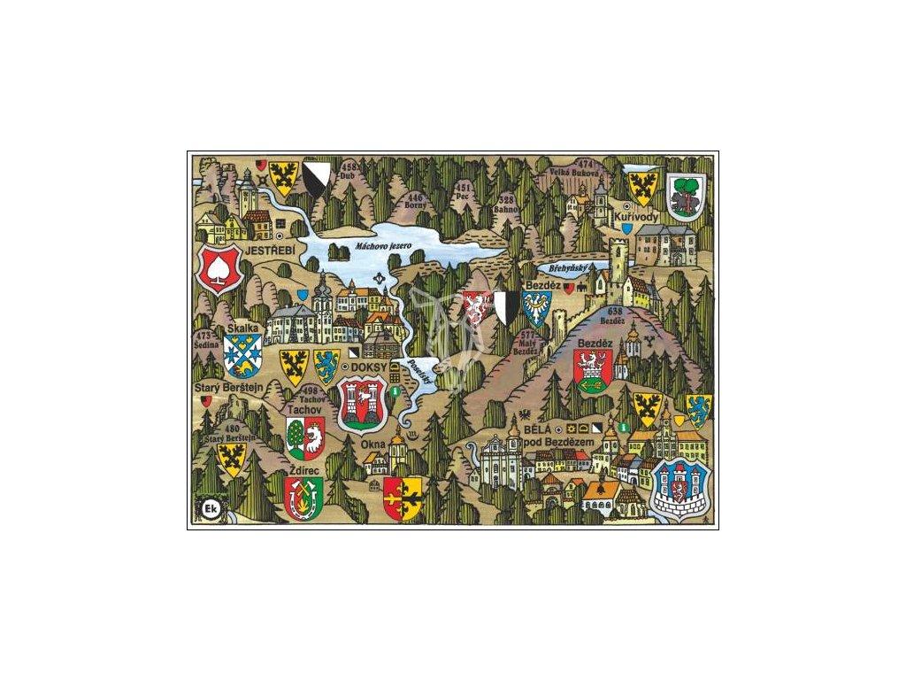 14177 4 pohlednice doksy putovani krajinou s erby