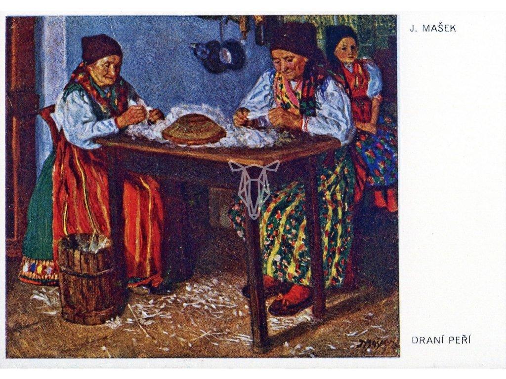 4478 2 pohlednice drani peri j masek