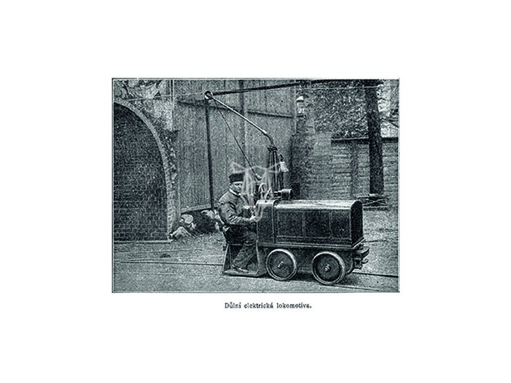 9902 2 pohlednice dulni elektricka lokomotiva
