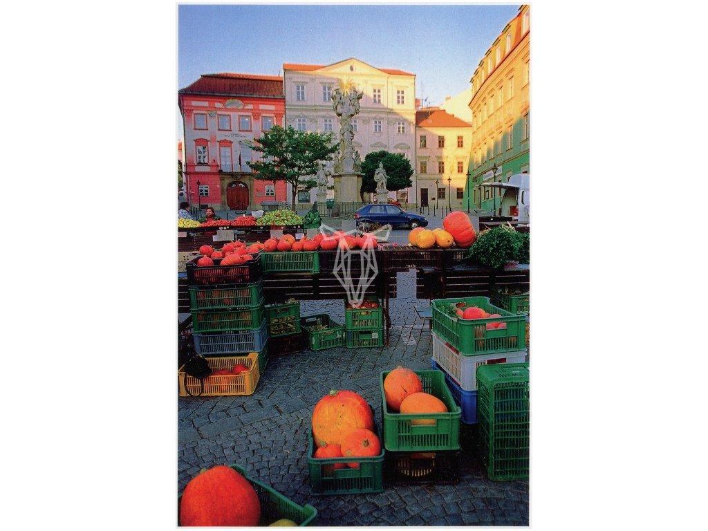 4052 2 pohlednice dyne na zelnem trhu