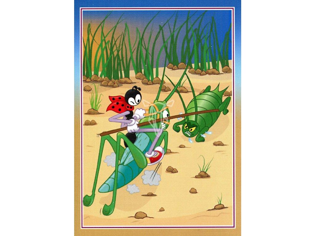 3221 2 pohlednice ferda mravenec kroti msice
