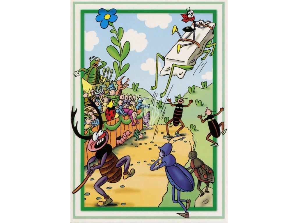 9065 2 pohlednice ferda mravenec divoka jizda