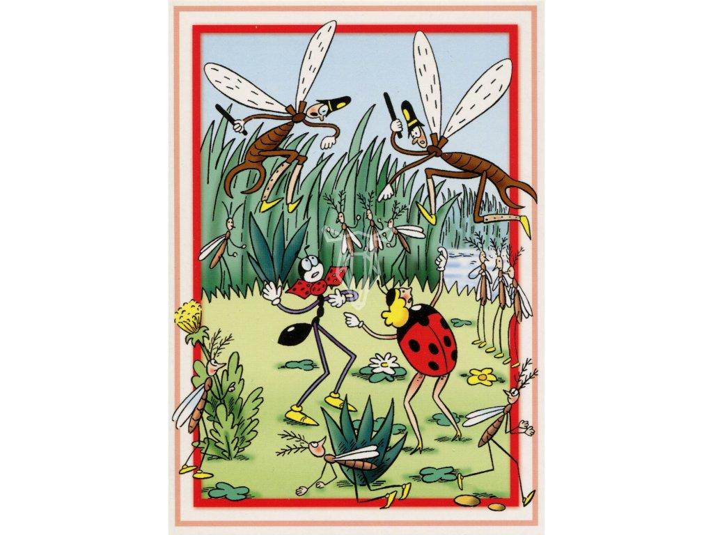 9059 2 pohlednice ferda mravenec policie
