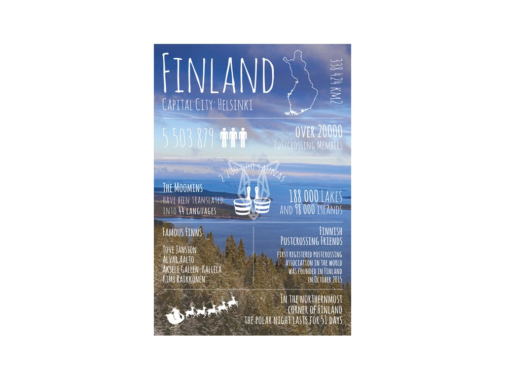 17822 pohlednice greetings from finland