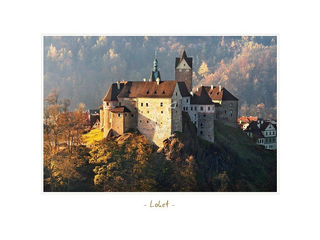 290 pohlednice hrad loket 17 x 13 cm