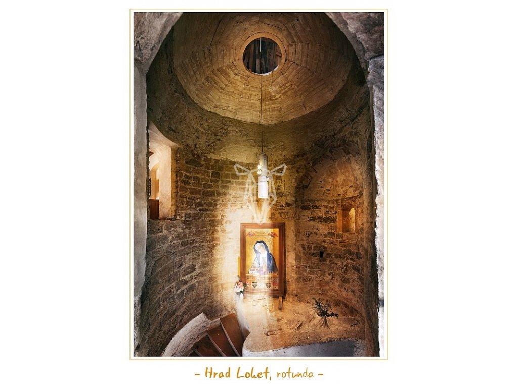 1295 pohlednice hrad loket rotunda