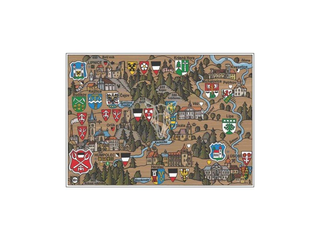 15908 2 pohlednice humpolec putovani krajinou s erby