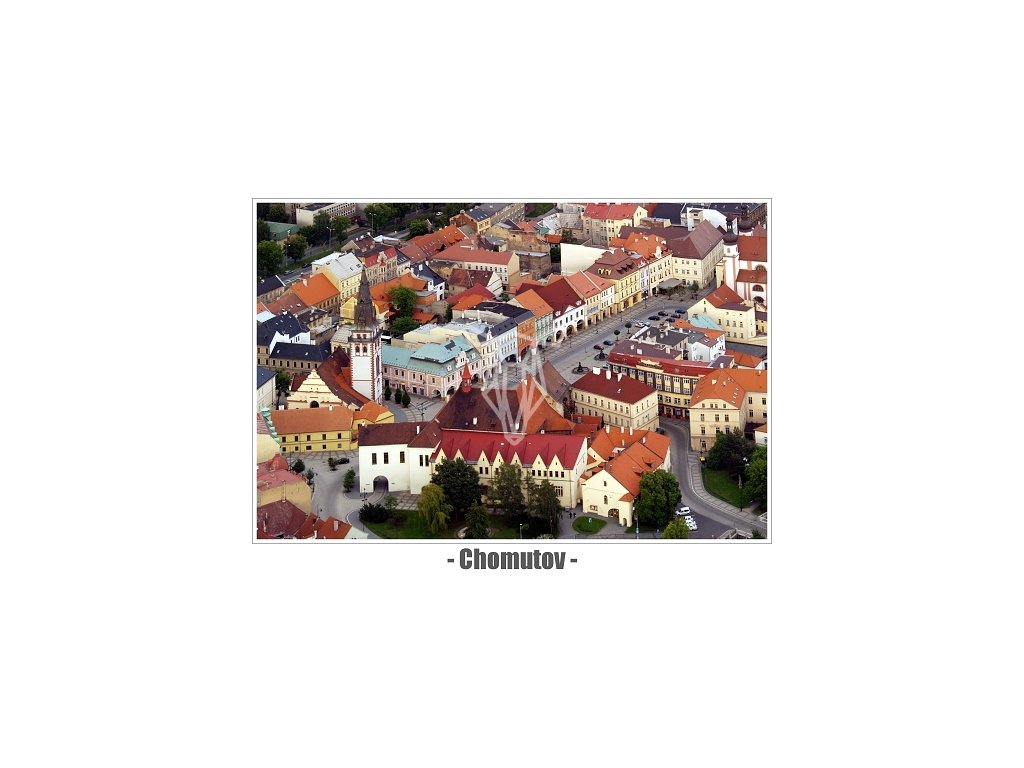 13817 3 pohlednice chomutov