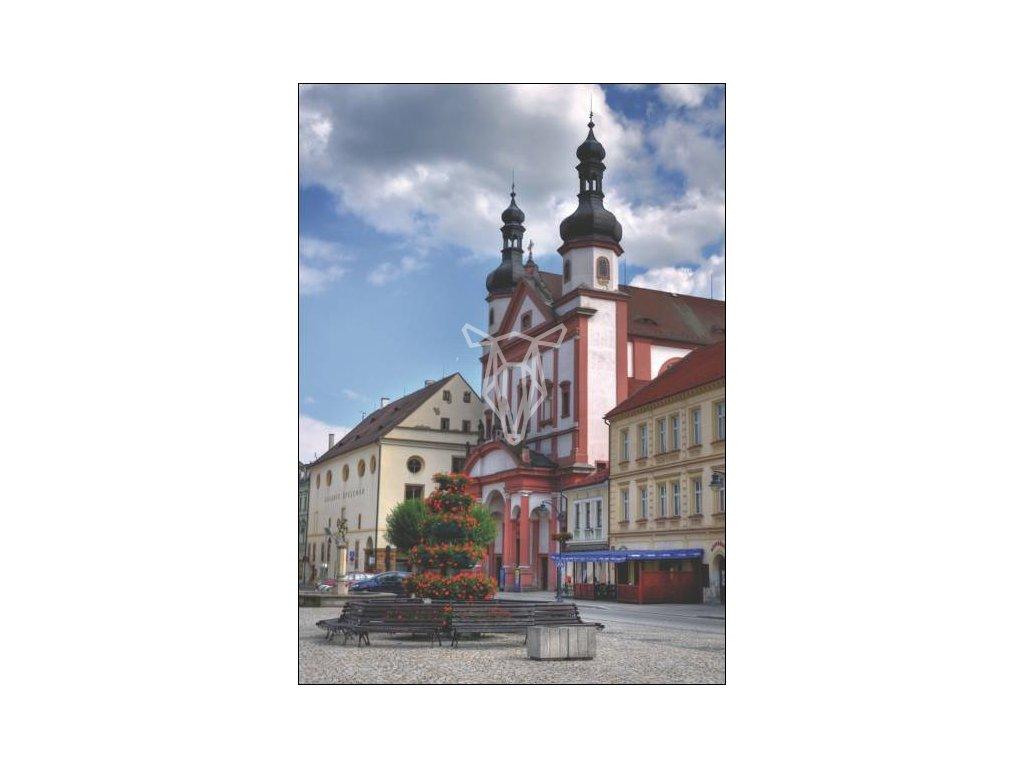 14135 3 pohlednice chomutov kostel sv ignace