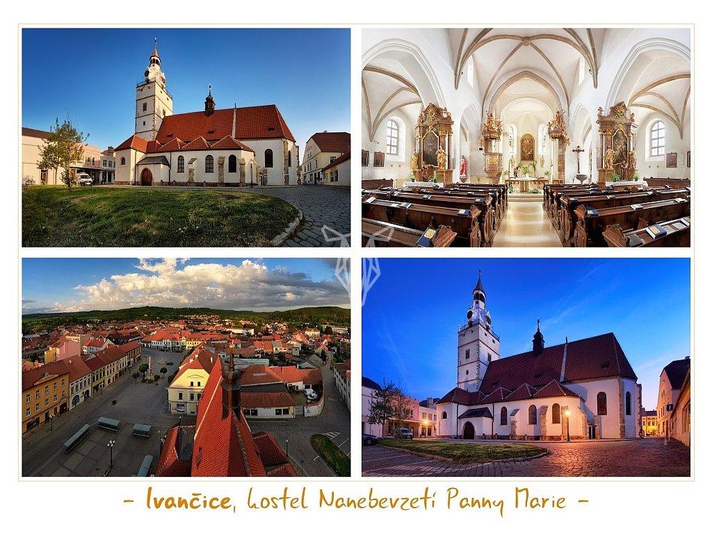 1286 pohlednice ivancice kostel nanebevzeti panny marie