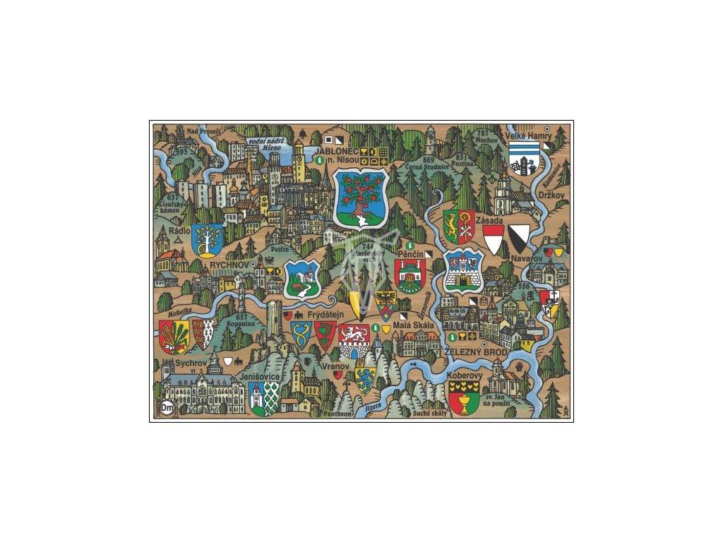 14660 4 pohlednice jablonec nad nisou putovani krajinou s erby