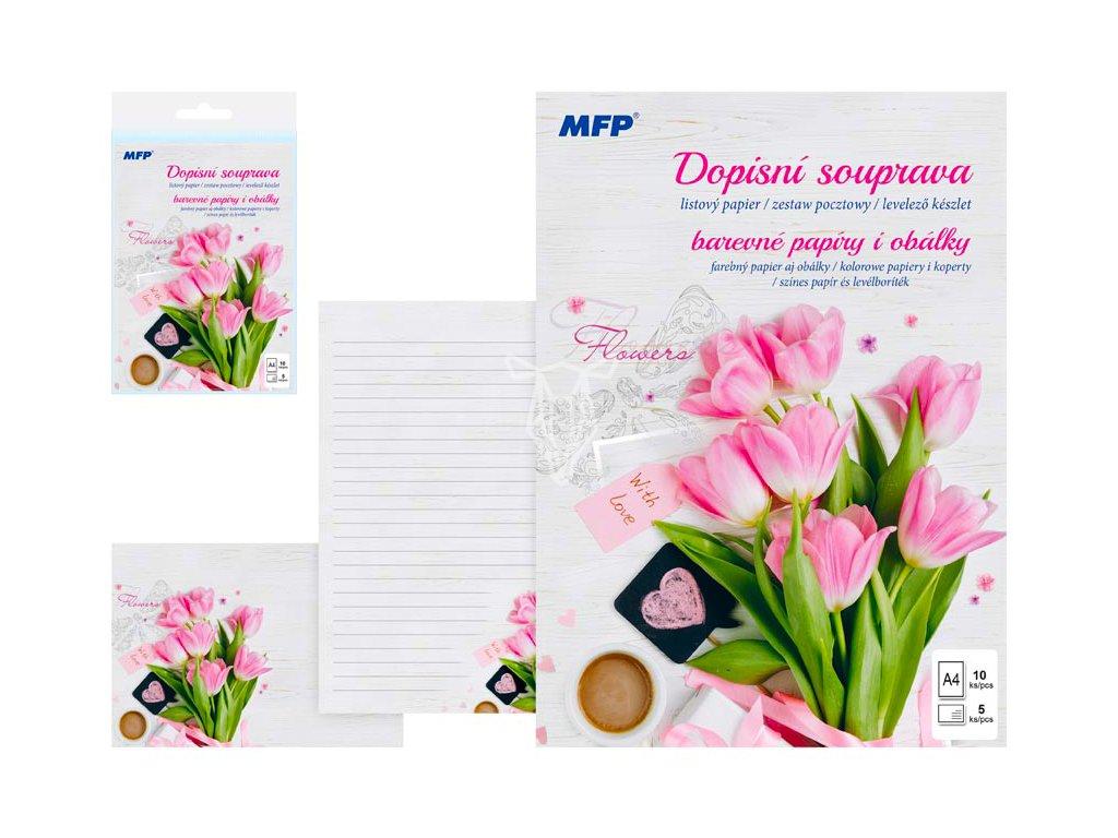 18890 dopisni set flowers