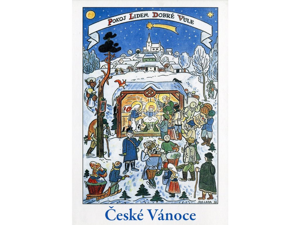 4271 2 pohlednice josef lada ceske vanoce betlem 1938