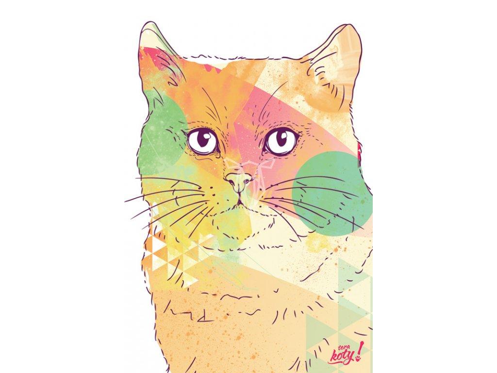 Terakoty Colorful Cat