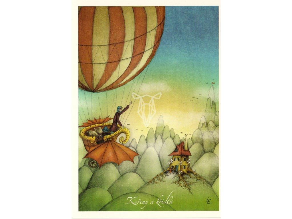 7721 2 pohlednice koreny a kridla