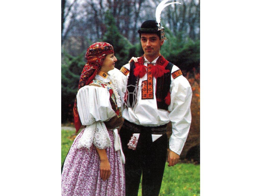 3113 2 pohlednice kroje svatecni kroj souboru hradistan