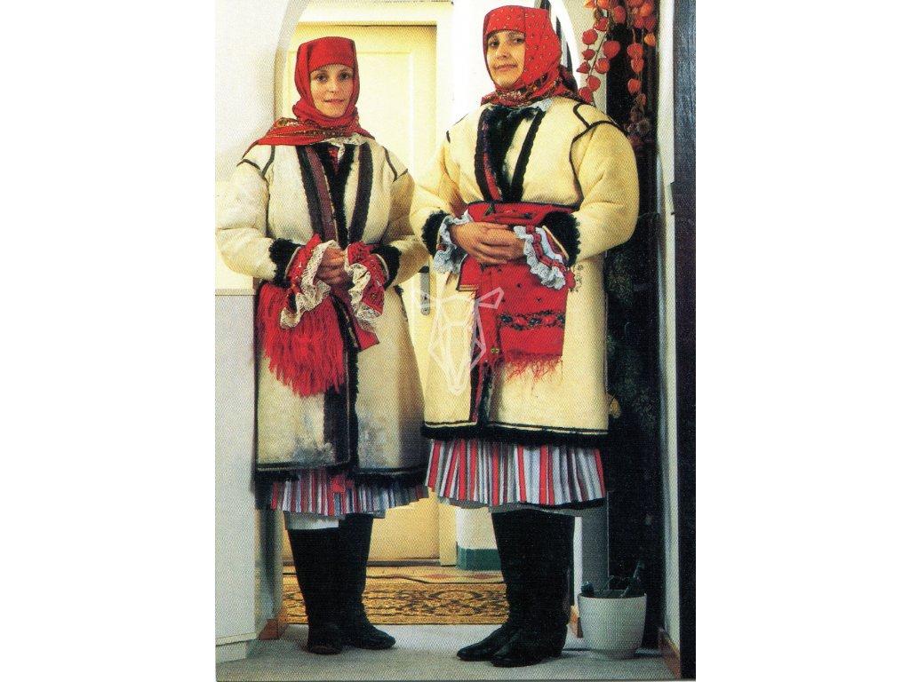 3104 2 pohlednice kroje zeny v koziscich z kunovic