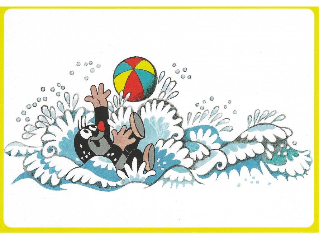 pohlednice krtecek voda
