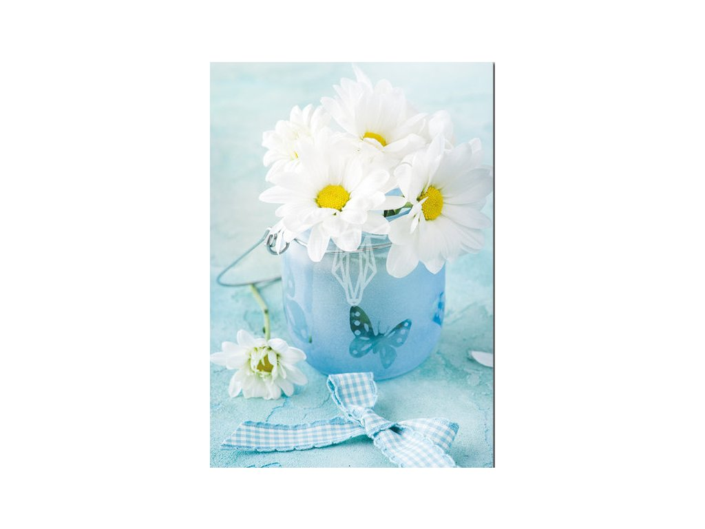 17996 pohlednice kytice kopretin