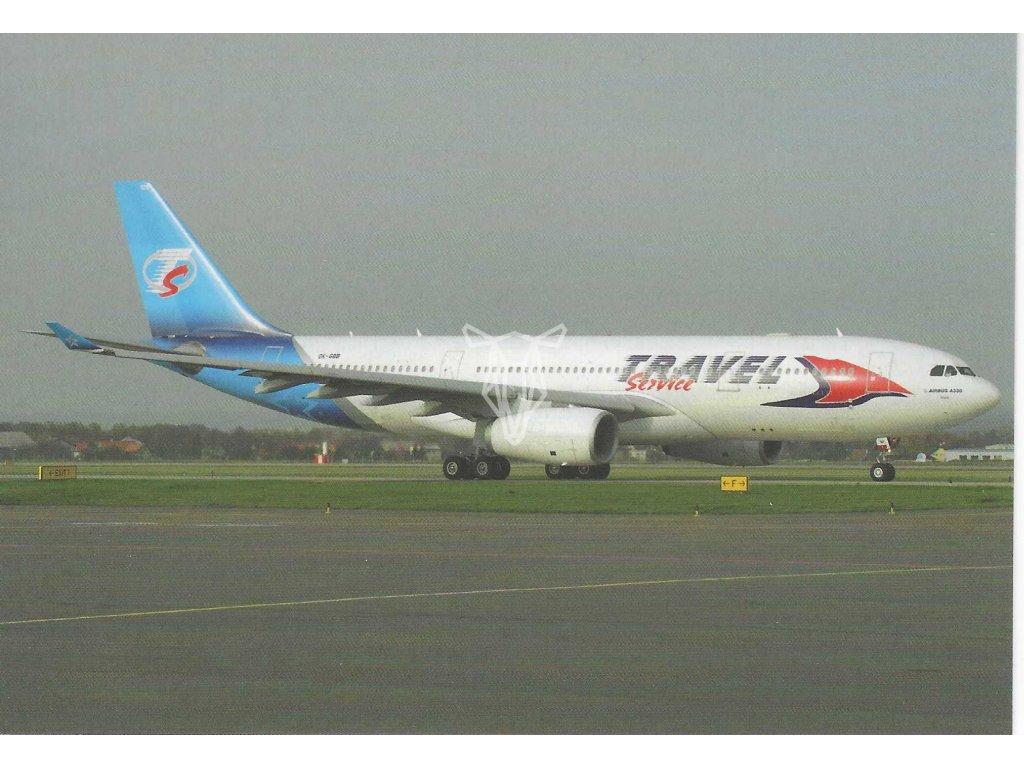 13073 1 pohlednice letadlo airbus a330 243 travel service poland