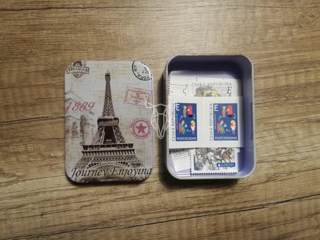 14054 2 krabicka na znamky motiv pariz