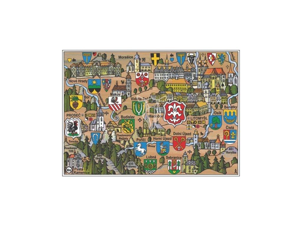 15905 2 pohlednice litomysl putovani krajinou s erby