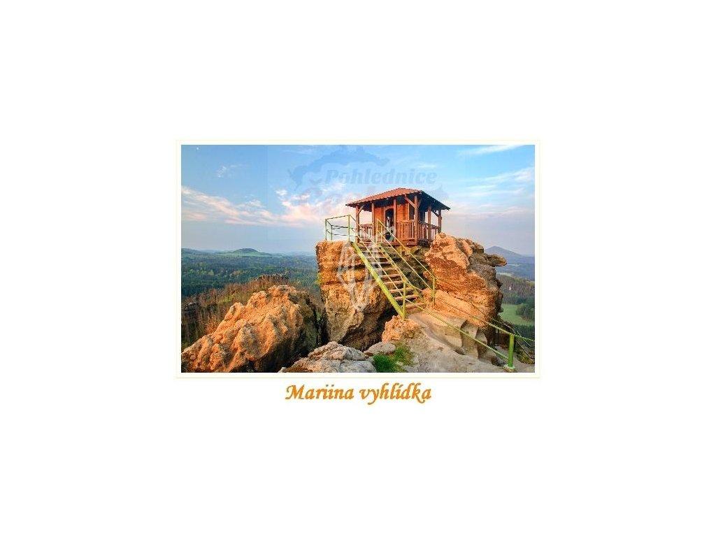 13832 3 pohlednice mariina vyhlidka