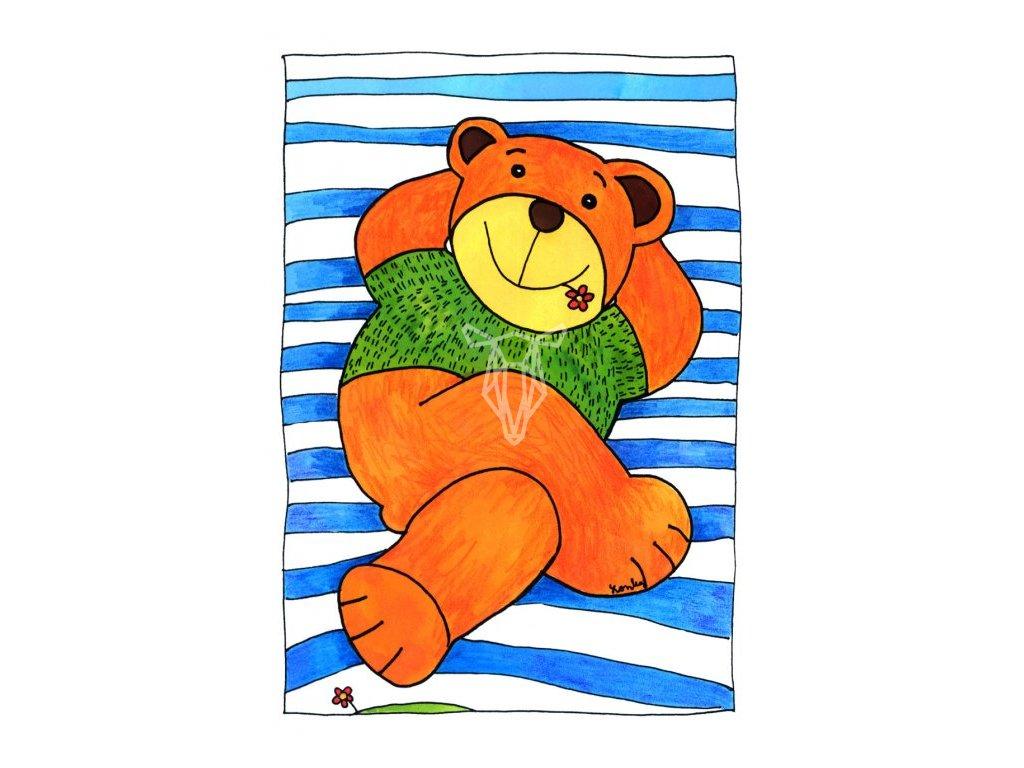 13481 3 pohlednice medvedi lenoseni
