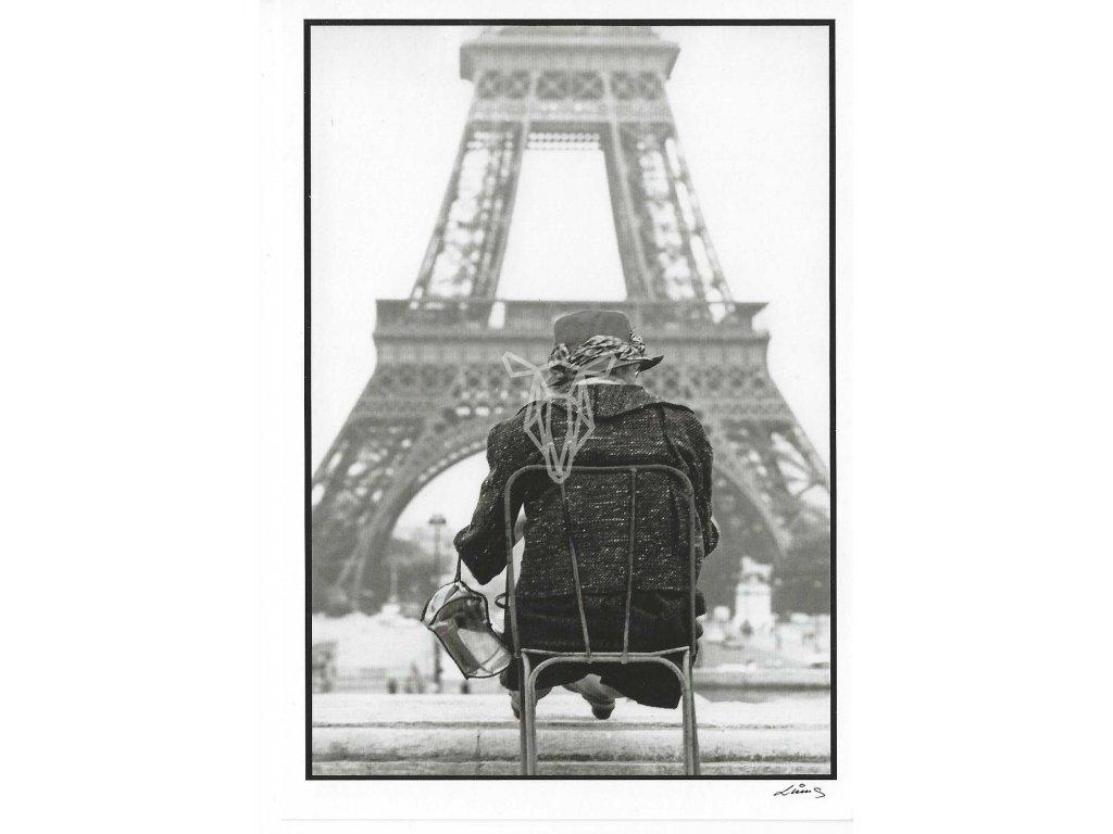 14120 2 pohlednice micha tuma z cyklu paris que j aime 1969