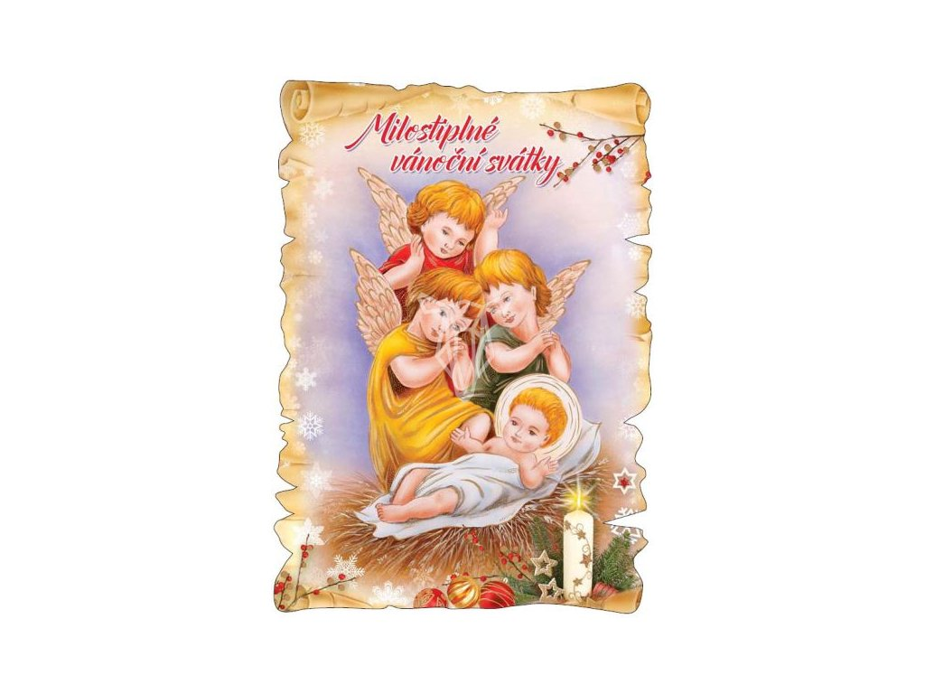 16319 pohlednice milostiplne vanocni svatky