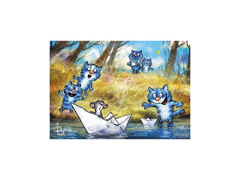 18365 1 pohlednice modre kocky chyt me kdyz to dokazes