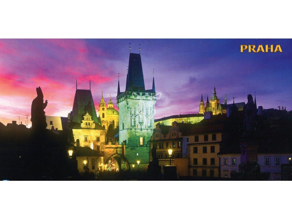 488 pohlednice nocni karluv most siroka