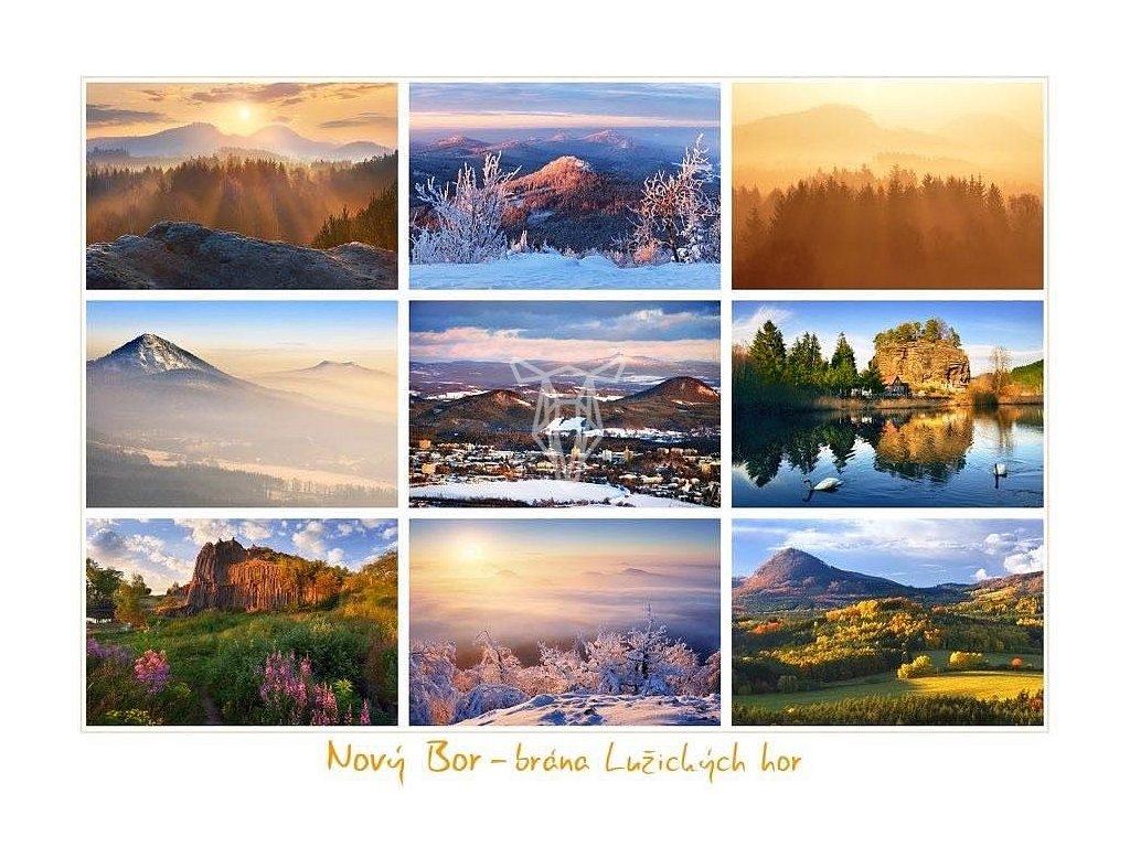 335 pohlednice novy bor brana luzickych hor 21 x 15 5 cm