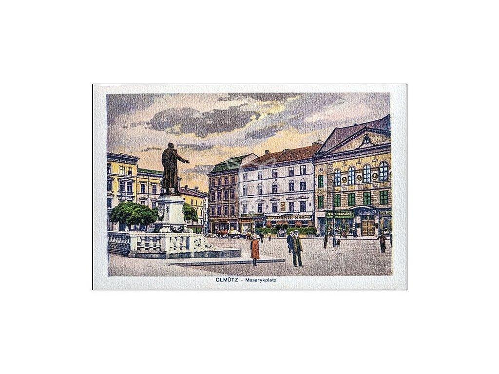 836 pohlednice olomouc masarykovo namesti