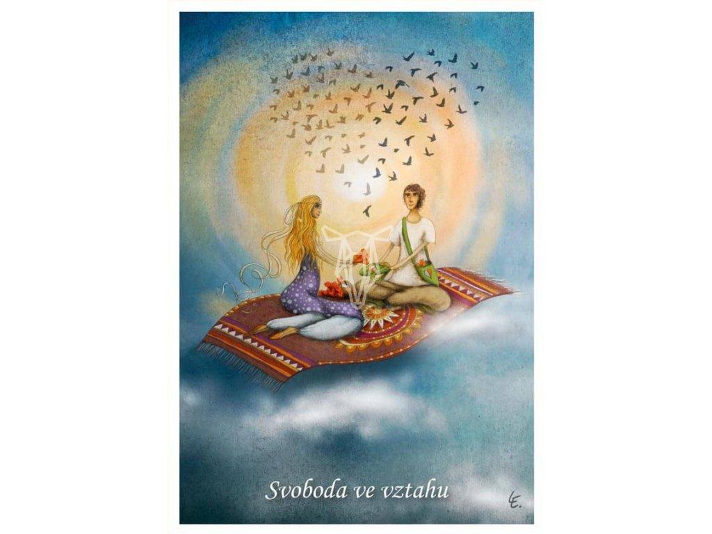 pohlednice on a ona svoboda ve vztahu