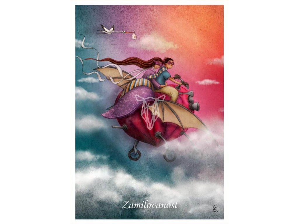 pohlednice on a ona zamilovanost (1)