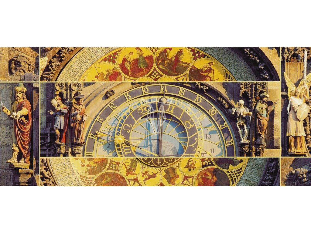 620 2 pohlednice orloj detail