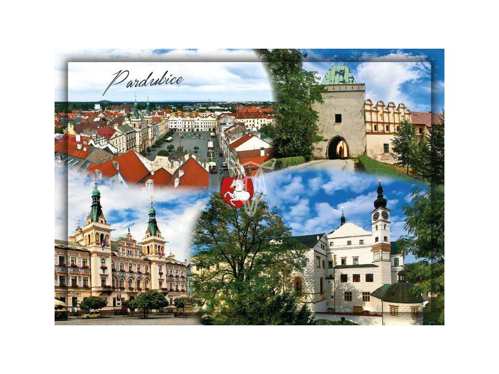 15464 3 pohlednice pardubice