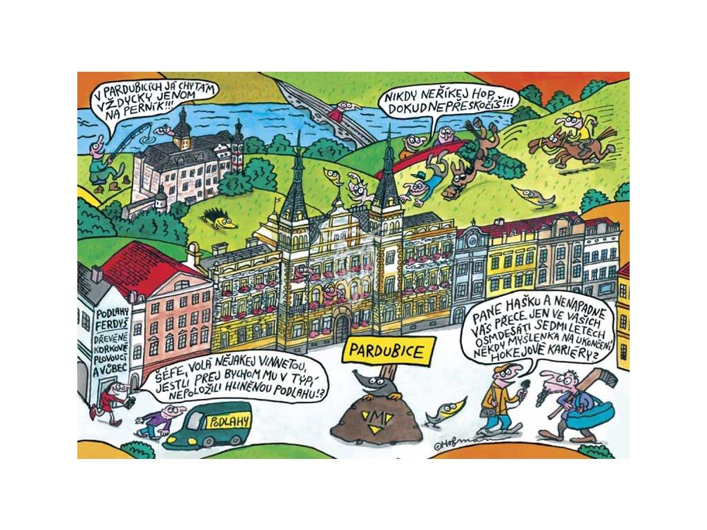 15497 3 pohlednice pidifrk pardubice