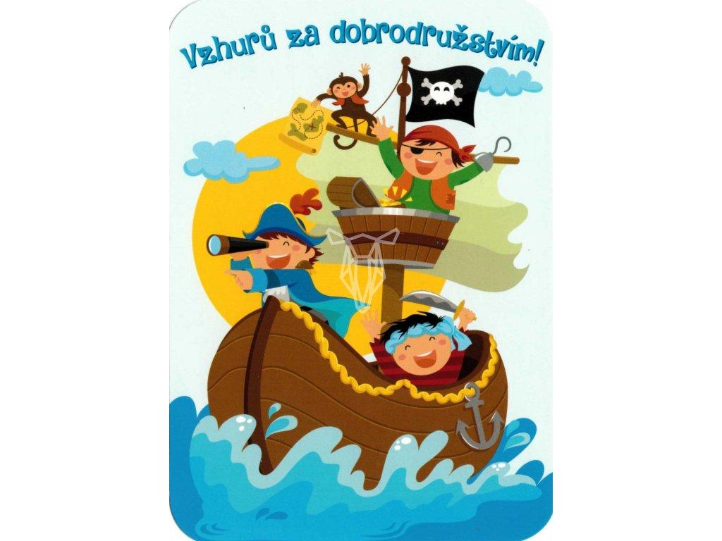 1166 pohlednice pirati na lodi