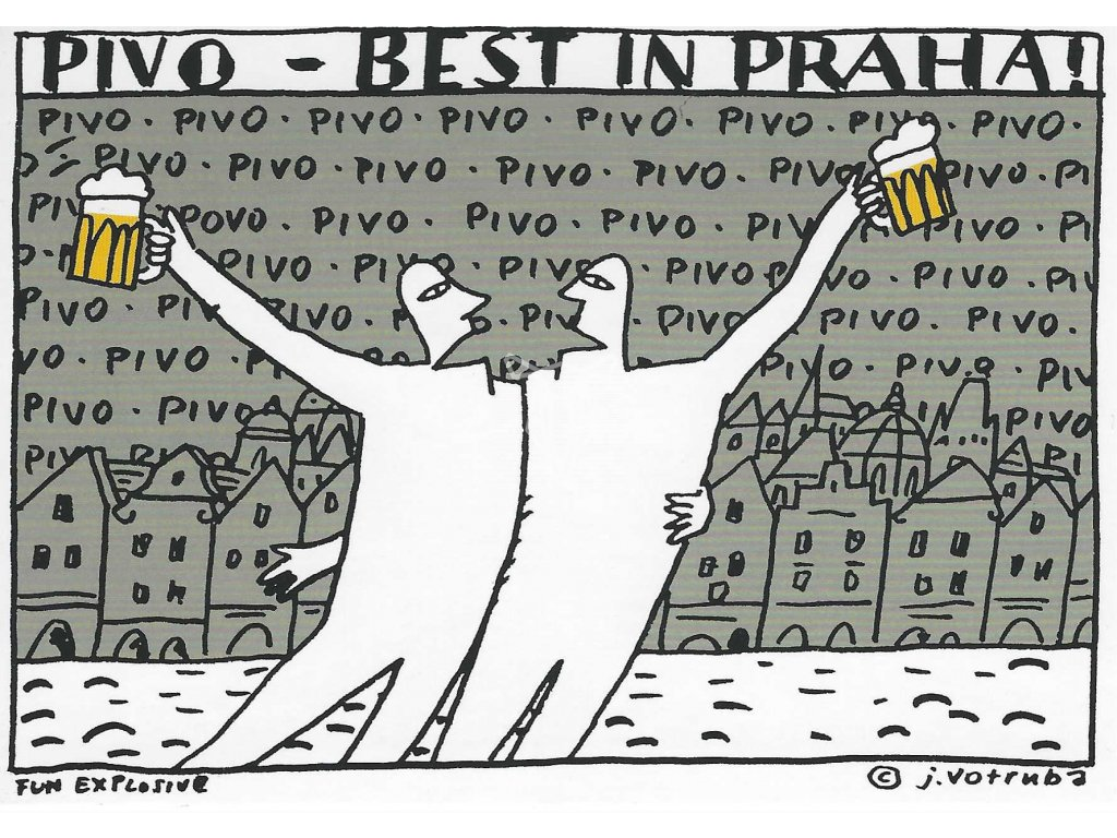 14306 3 pohlednice pivo best in praha