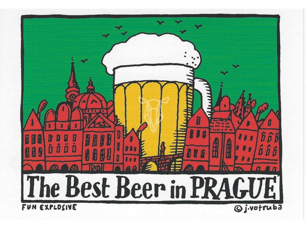 13448 3 pohlednice the best beer in prague