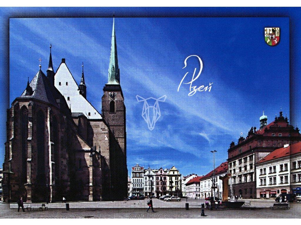 56 pohlednice plzen