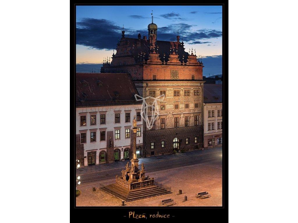 1313 pohlednice plzen radnice