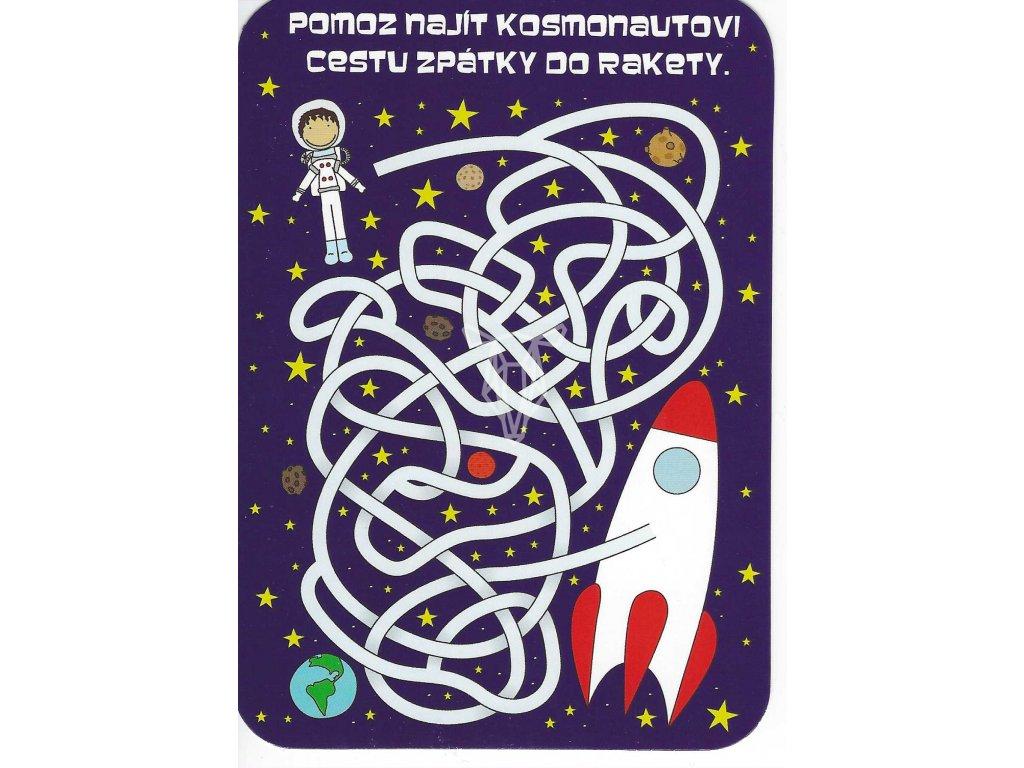 15146 3 pohlednice pomoz kosmonautovi