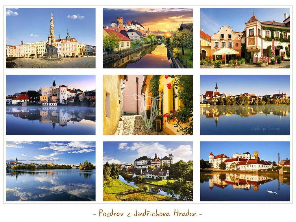 665 pohlednice pozdrav z jindrichova hradce 21 5x16 cm
